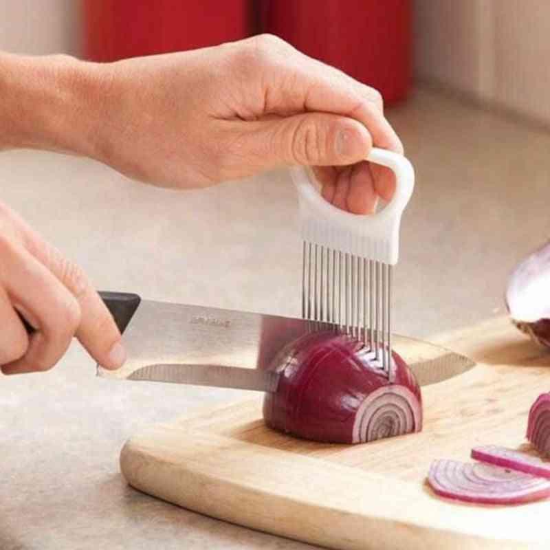 Rezač luka od nehrđajućeg čelika - vilica za luk, rezač za rezač voćnog povrća
