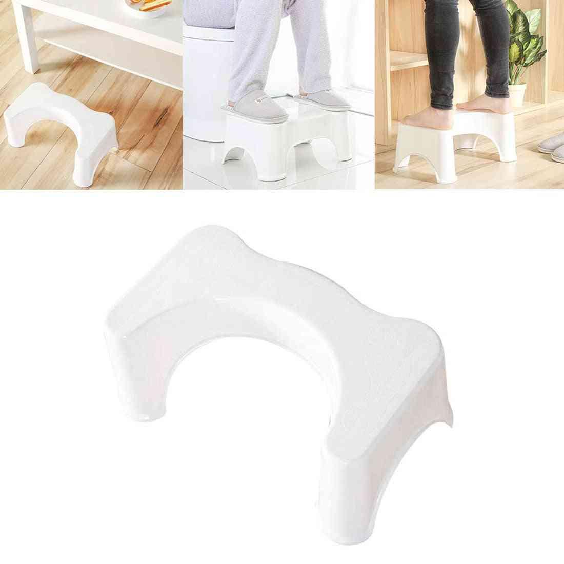 Badrumsuppsättning U-formad toalettpall badrumshalkfri avföringshjälpare