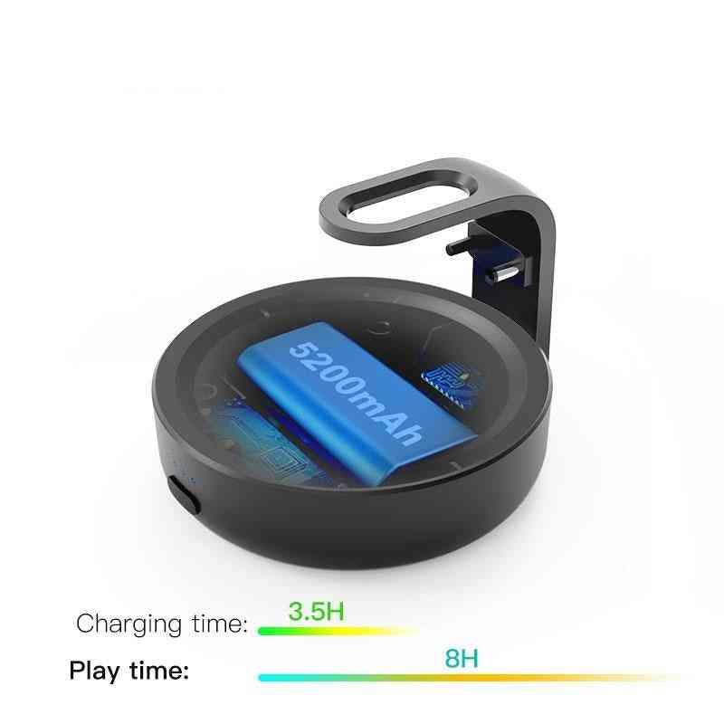 Przenośna podstawa bateryjna do ładowarki amazon echo dot trzeciej generacji - czarna