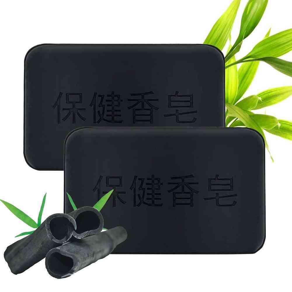 Anti Bacterial, Tourmaline Remover Acne Charcoal Soap For Face And Body