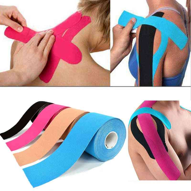 5m Waterproof Breathable Cotton Kinesiology Tape - Sports Adhesive Elastic Roll Muscle Bandage For Pain Care