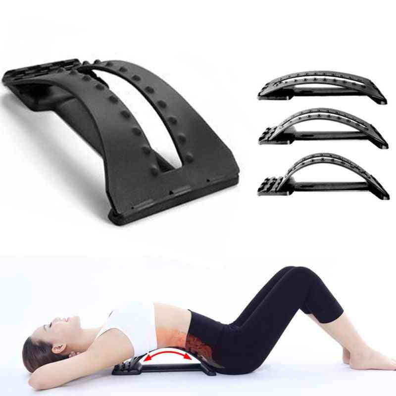 Back Massager Stretcher - Lumbar Fitness Support For Waist, Spine Pain Relief