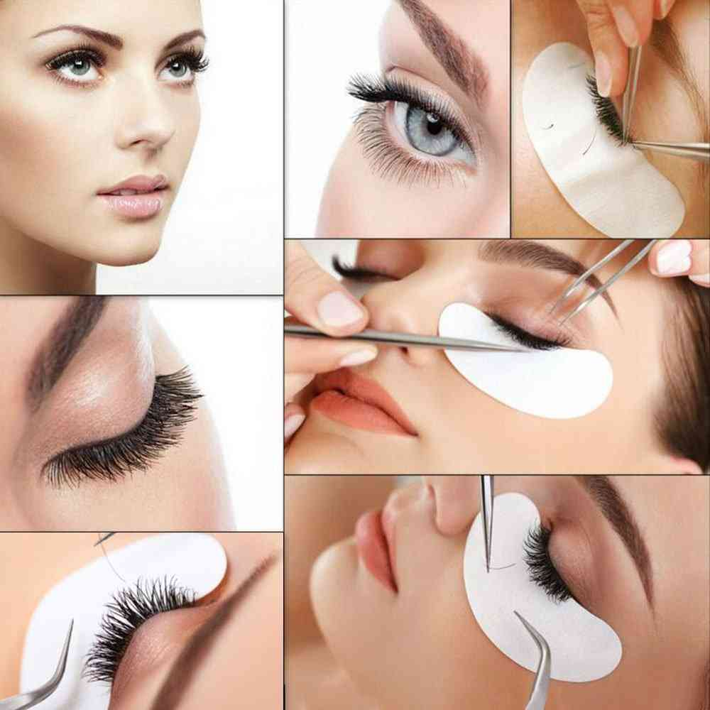 100pairs Eyelash Extension Paper Patch - Grafted Eye Stickers, Under Eye Pads