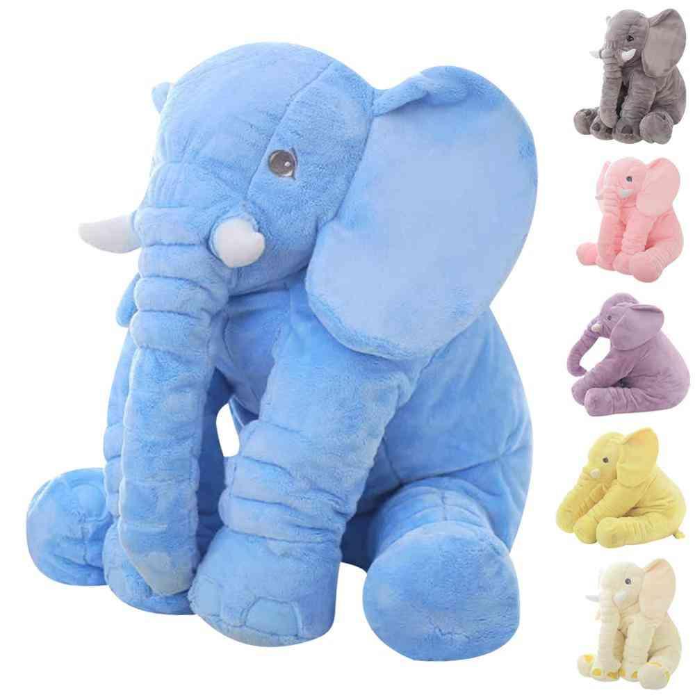 40cm/60cm Plush Cute Stuffed Elephant Dolls - Sleeping Back Cushions For Baby Comforting