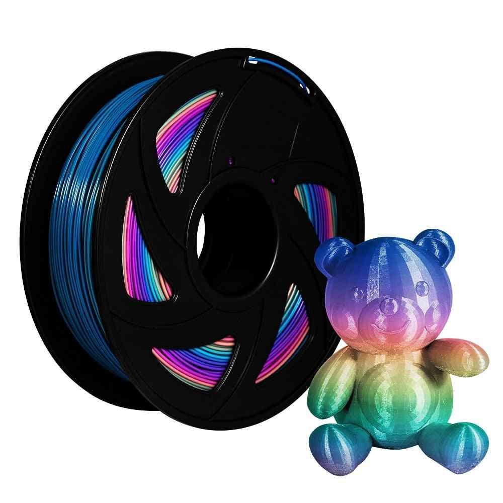 Pla Filament Rainbow Color Filament Pla 3d Printer - Colorful Spool 1.75mm Filaments 2.2 Lbs / 1kg Roll For 3d Printer