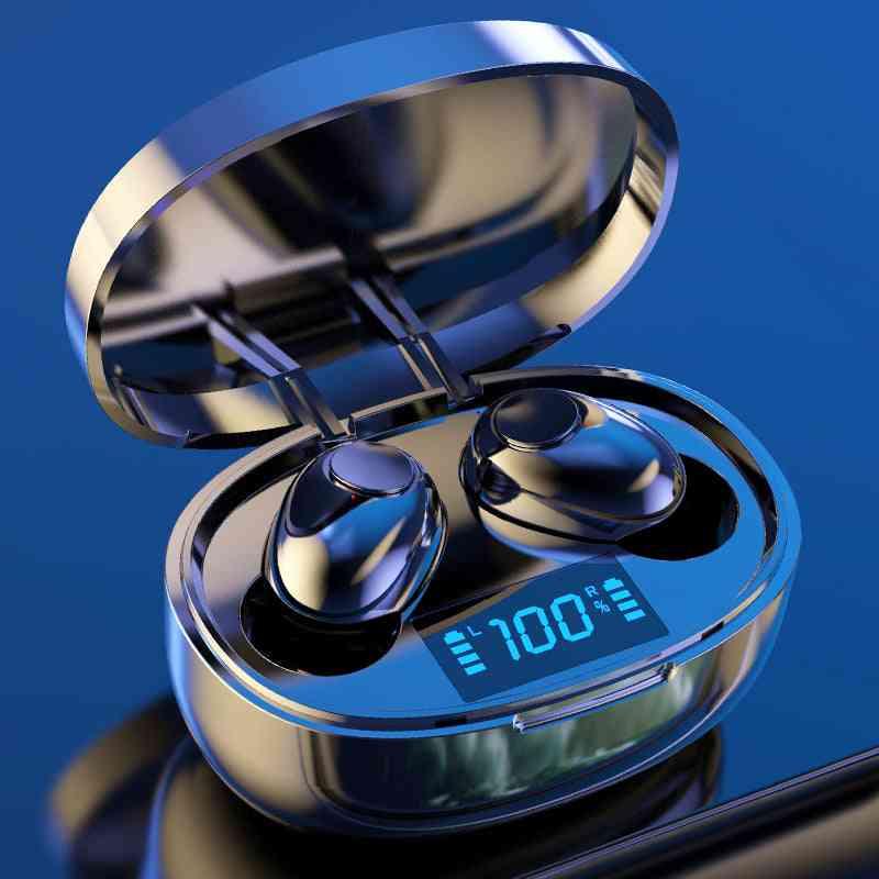 Tws Bluetooth 5.0, Led Power Display, Noise Cancelling, Waterproof, Earbud Headphones
