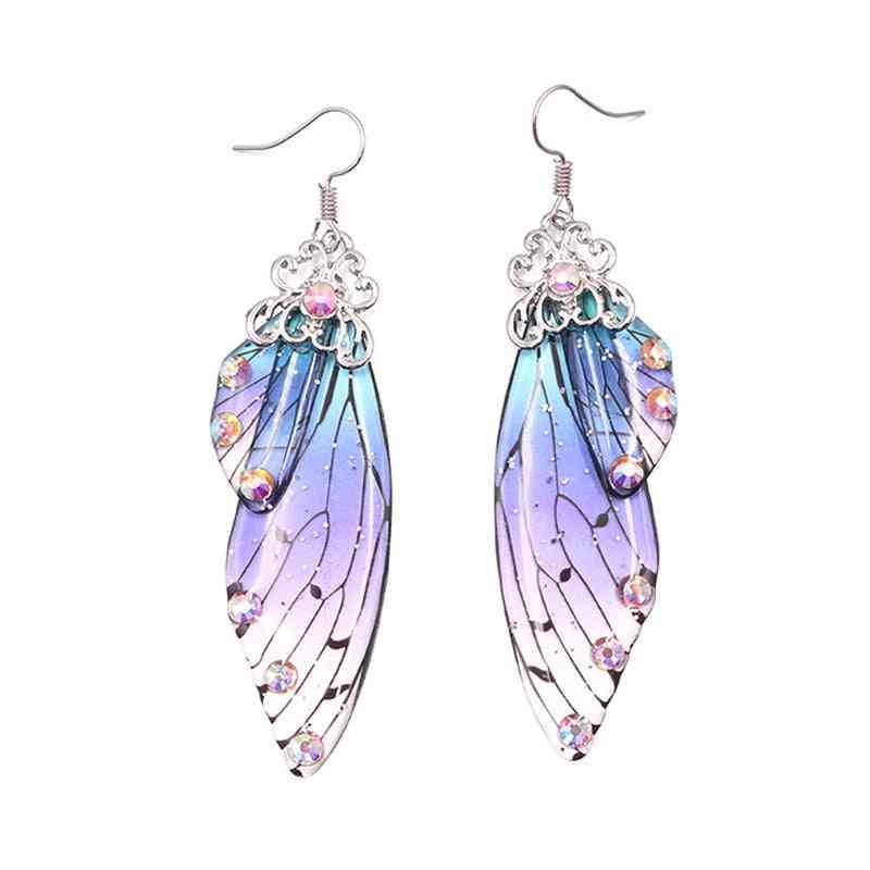 Handmade Fairy Butterfly Wing - Drop Earring Jewelry