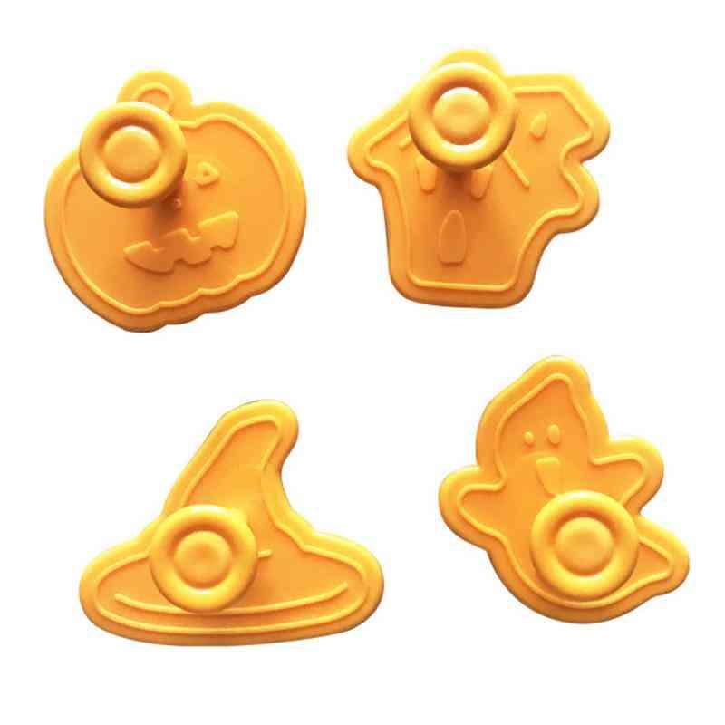 4 Pc/set Biscuit , Halloween Pumpkin Cookie Fondant - Kitchen Diy Baking Cutter Mould