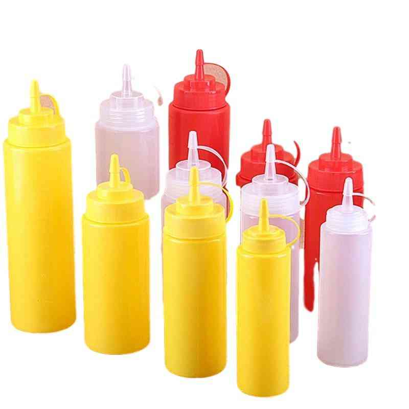 Ketchup, Sauce, Oil Dispensing Squeeze Bottles With Cap - Cooking Tools Kitchen Accessories