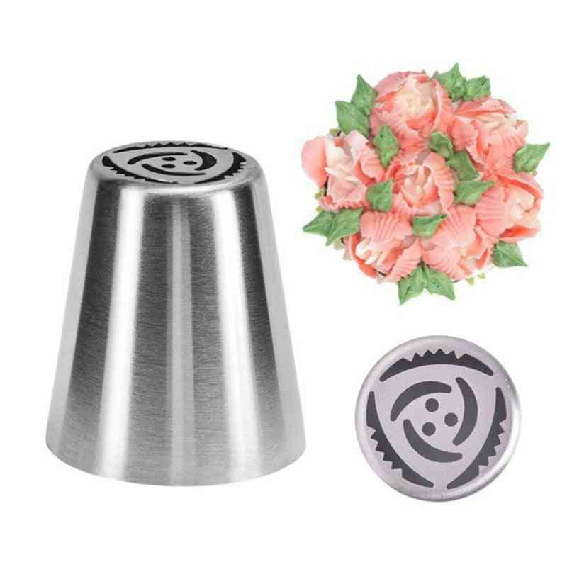 Stainless Steel Flower Cream Pastry - Leaf Tips Nozzles, Bag Cupcake Decorating Tool