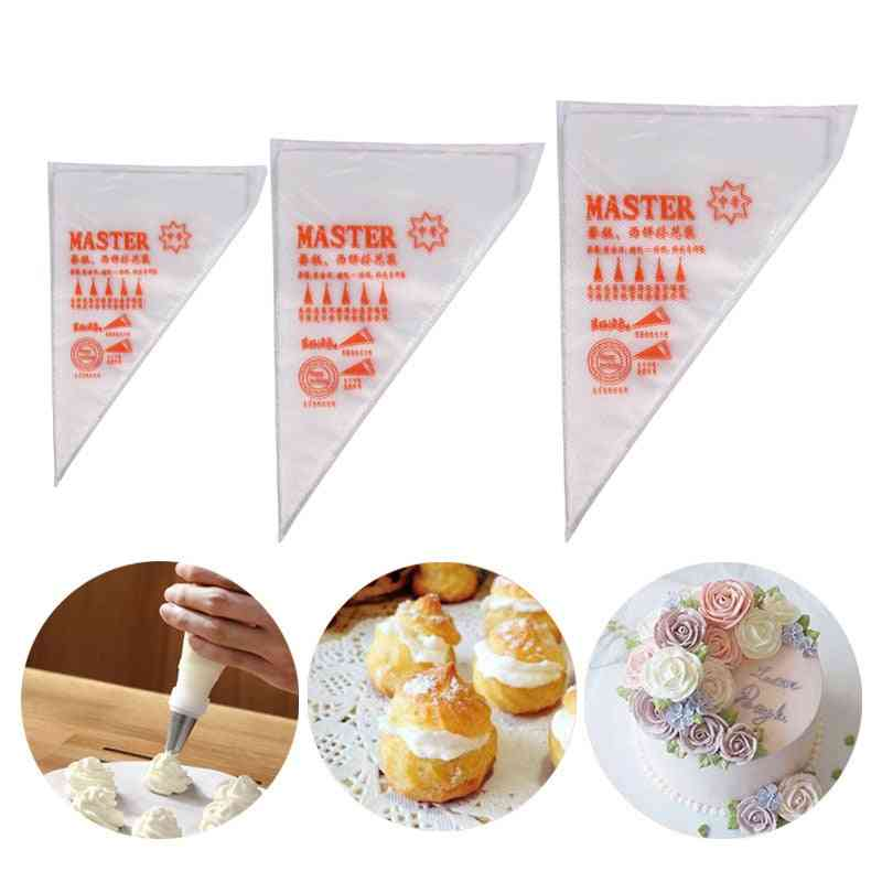 Disposable Pastry Bag Icing Piping Cake - Pastry Cupcake Decorating Fit - All Size Nozzles Pastry Bags