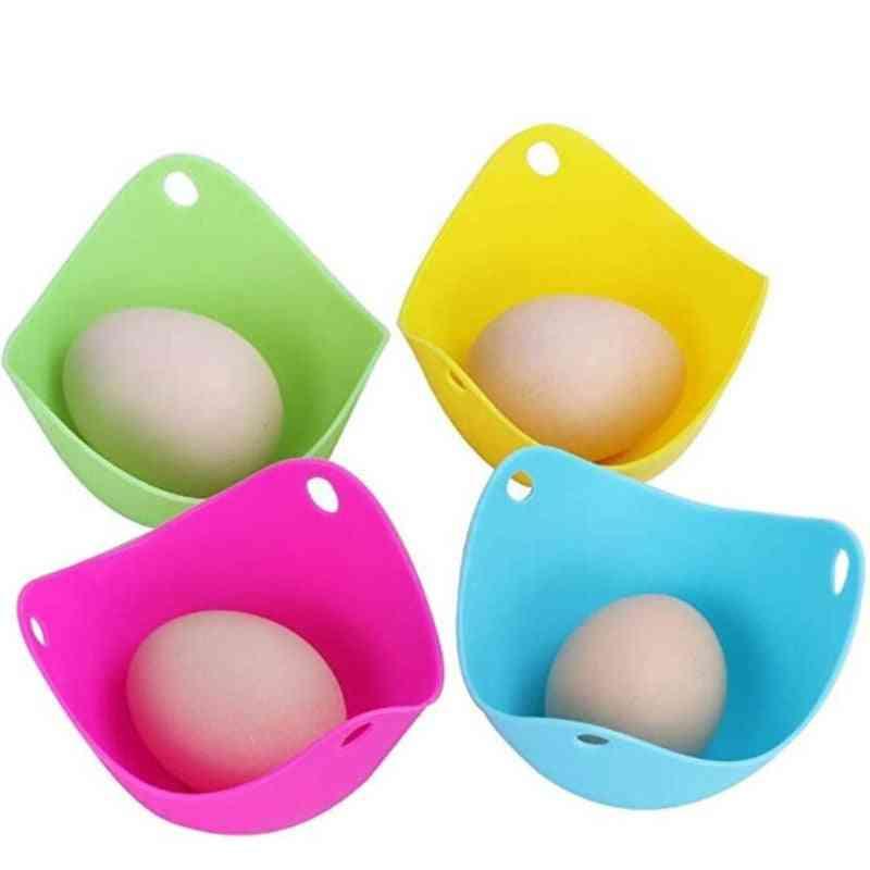 Silicone Egg Poacher Poaching Pods Pan - Mold Bowl Rings Cooker Boiler