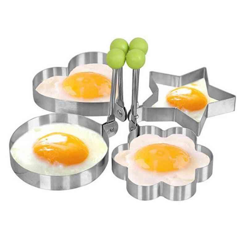 Luova neljän muodon ruostumaton teräs - paistettu muna, pannukakkuväline - pyöreä / 10 cm
