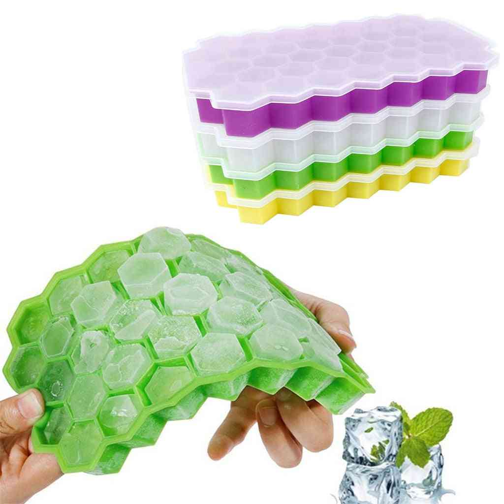 Summer Honeycomb Shape - 37 Ice Cube Mold Storage Containers Tray