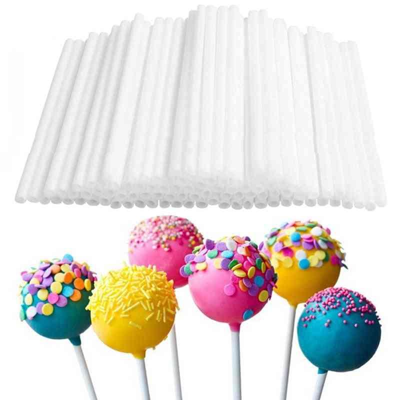 80pc/lot 10cm Disposal, Non Toxic, Plastic Sucker Tubes Sticks For Lollipop / Candy / Chocolate / Cake