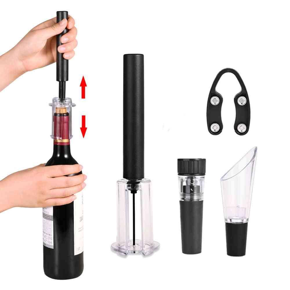 Air Pump Wine Bottle Opener Air Pressure Vacuum Red Wine Stopper Beer Lid Opener Corkscrew Corks Out Tool