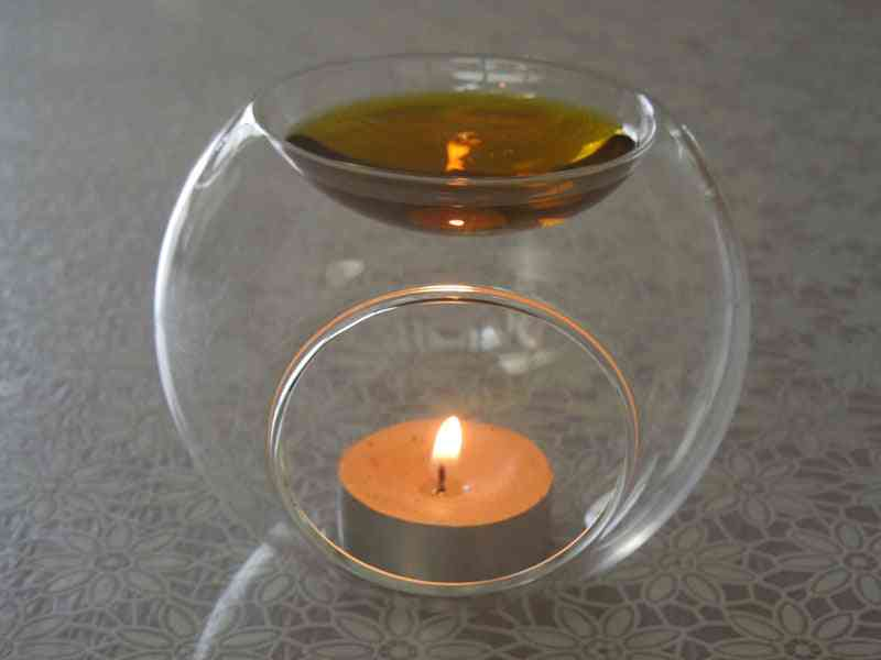 Essential Fragrance Oil Holder - Micro Landscape, Glass Candlestick Candle Holders