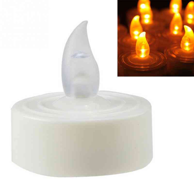 12pcs Electronic Led Tea Light Candles - Realistic, Battery Powered, Flameless Candles