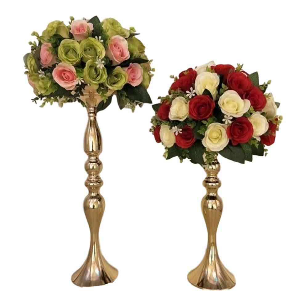 Gold Candle Holders - 50cm/20