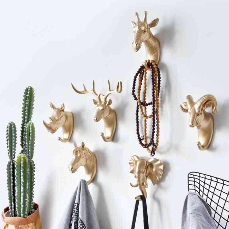 Creative Hanging Animal Hook Holder - Wall Home, Strong Seamless Sticking Hook