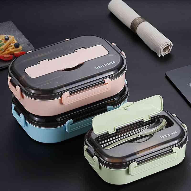 Portable 304 Stainless Steel Compartment Lunch Box