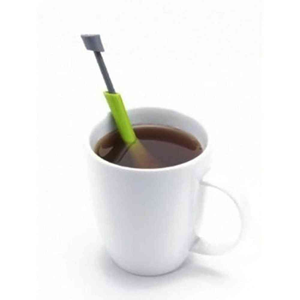 Total Tea Infuser Gadget Measure - Swirl Steep Stir And Press Plastic Tea & Coffee Strainer