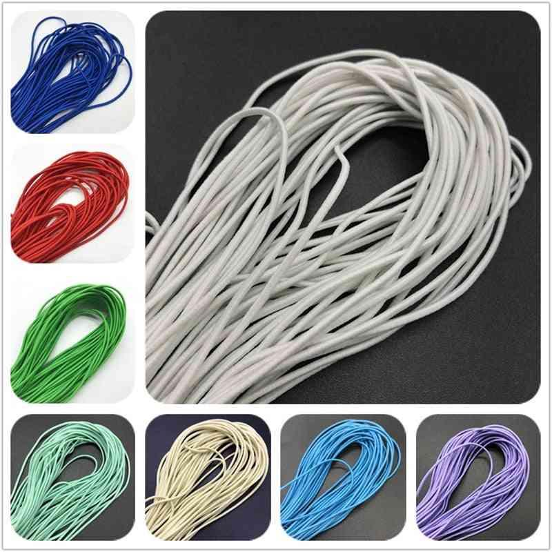 5yards 2mm Colorful High Elastic Round Elastic Band Round Elastic Rope Rubber Band Elastic Line