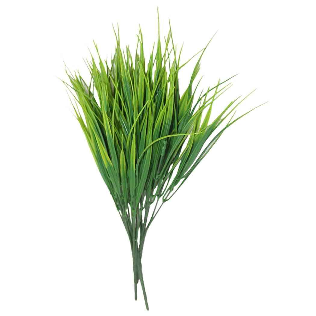 7 Fork Water Grass Eucalyptus Plastic - Artificial, Green Plant