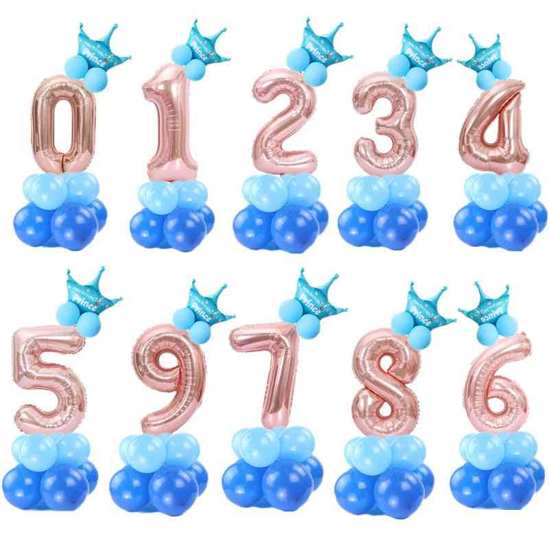 Rose / Gold Digital Number - Helium Ballon, Wedding, Birthday Party Balloon