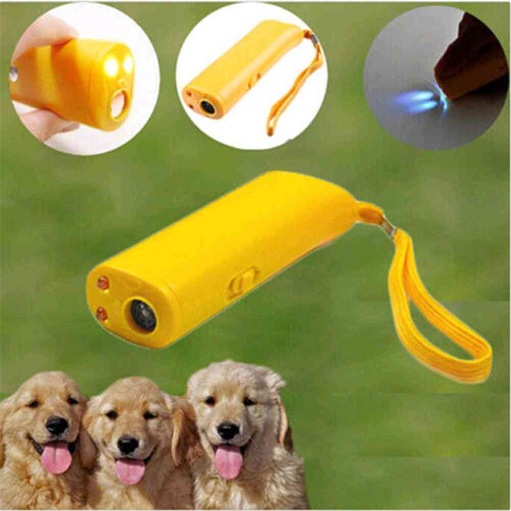 Ultrasonic Dog Training Repeller Control - 3 In 1 Anti Barking, Stop Bark Deterrents Device