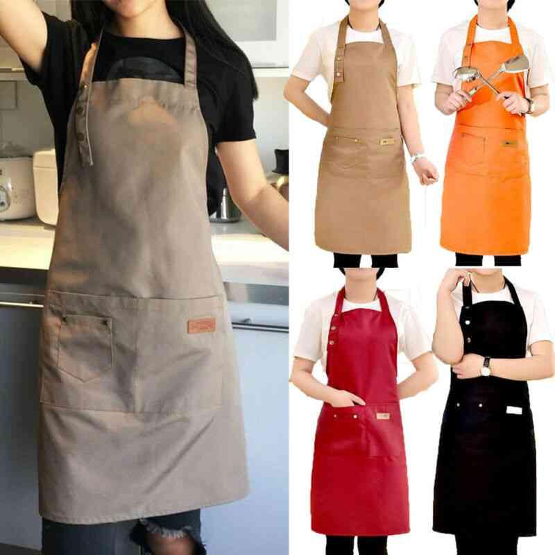 Pure Color Cooking Kitchen Apron - Woman, Men, Chef, Waiter, Hairdresser, Cafe, Shop, Bbq Aprons