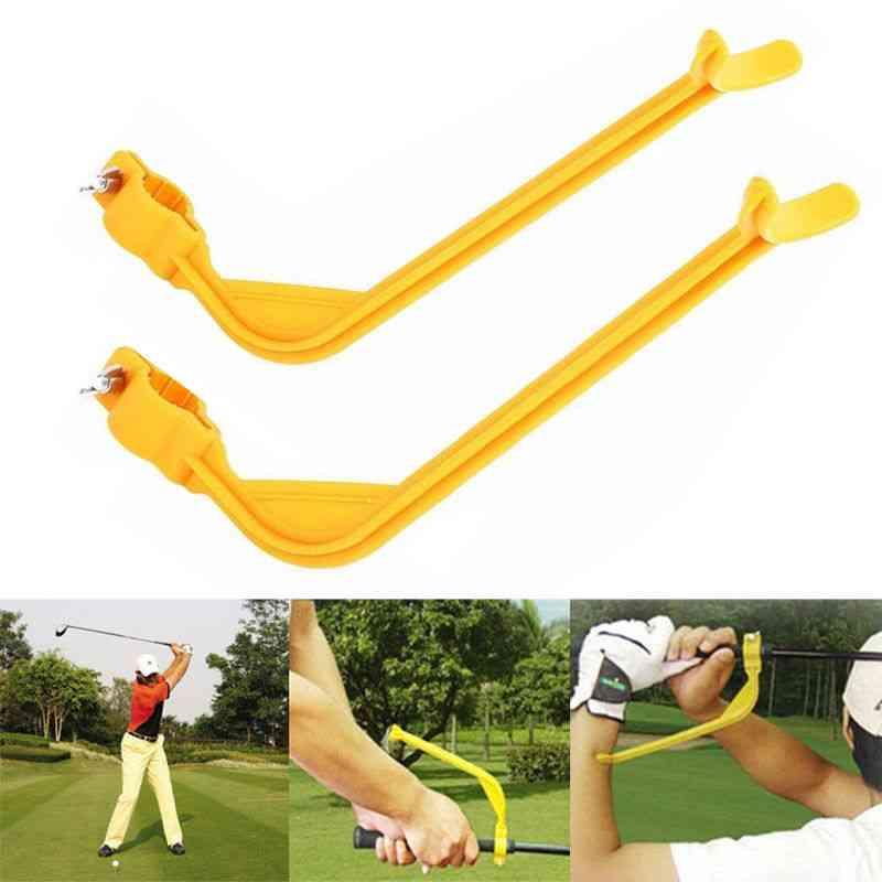 Golf Swing Trainer Beginner Gesture Alignment Training Aid Practicing Guide