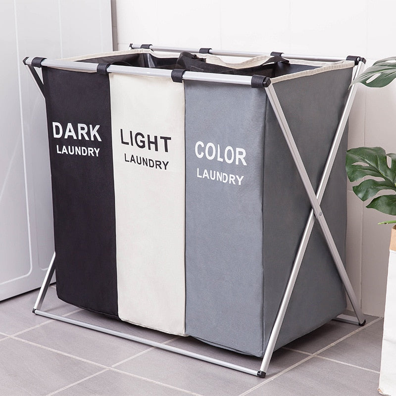 Waterproof Dirty Clothes Storage Basket - One/two/three Grid Organizer