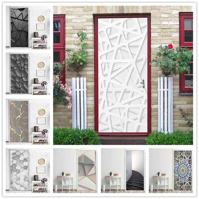 Home Renovation Decor Office Cafe Theme - Exhibition Poster Vinyl Door Sticker