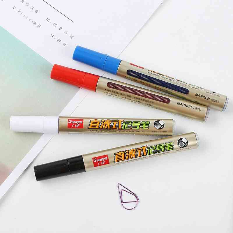 Single Headed White Color, Magic Marker - Mark Oily Optical Disc, Glass Ceramic Pen