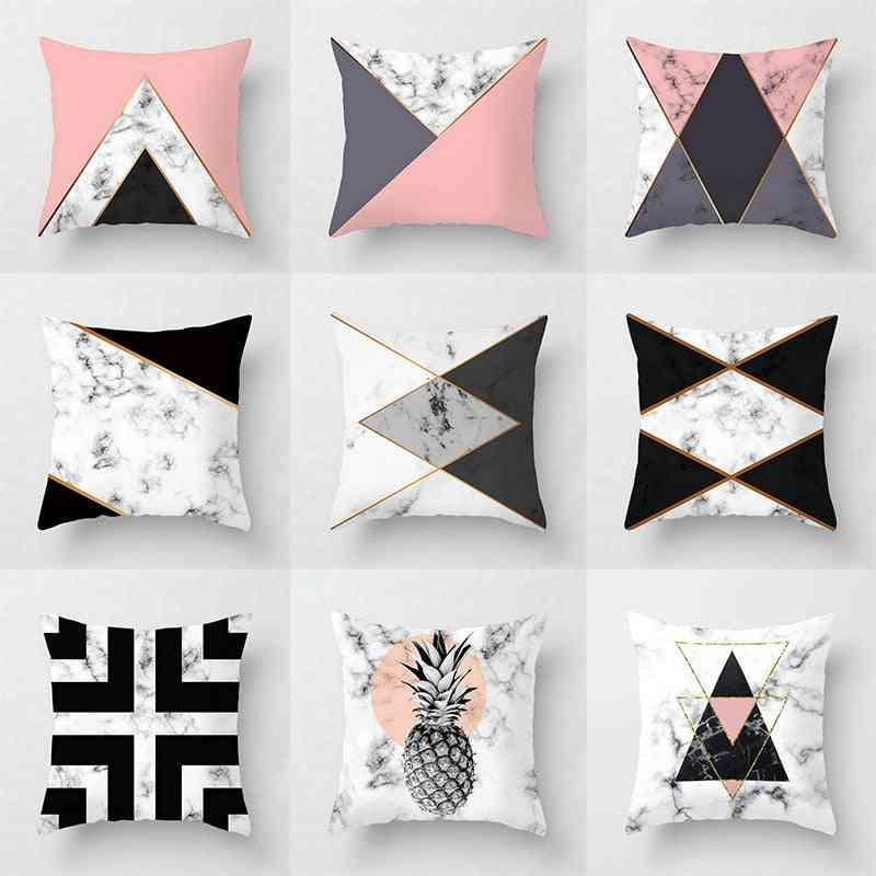 Geometric Abstract Decorative Pillows Case With Design