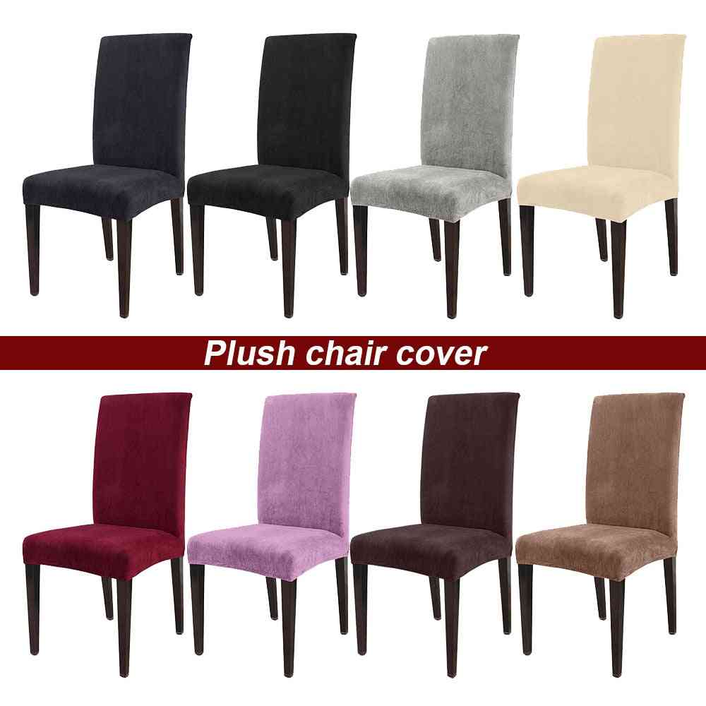 Removable Thick Plush Chair Cover - Stretch Elastic Slipcovers