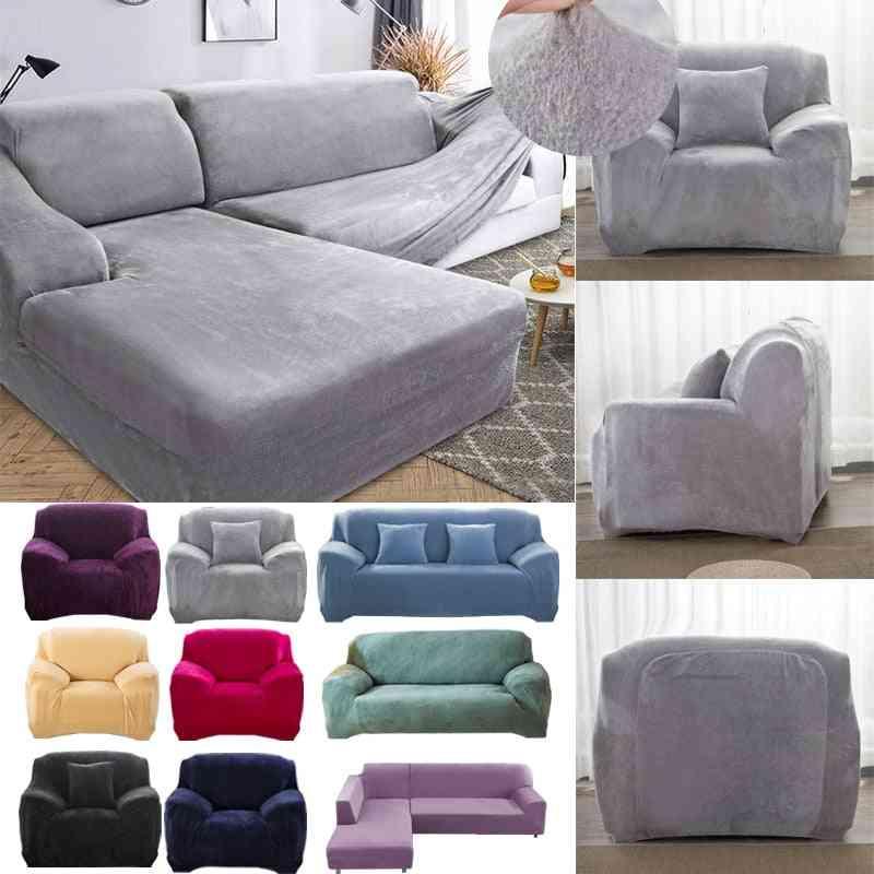 Thick Plush Sofa Covers For Living Room - Sofa Towel Slip Resistant Keep Warm - Strech Sofa Slipcover