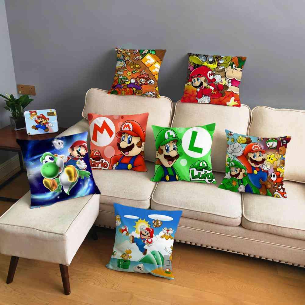 Classic Game Colorful Cartoon Super Mario Pillowcases
