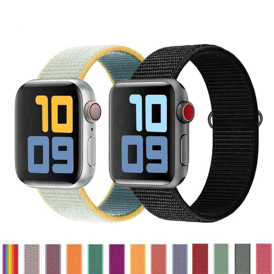 Nylon Bracelet Strap Band For Apple Watch 5 4 3 2 38mm 40mm 42mm 44mm