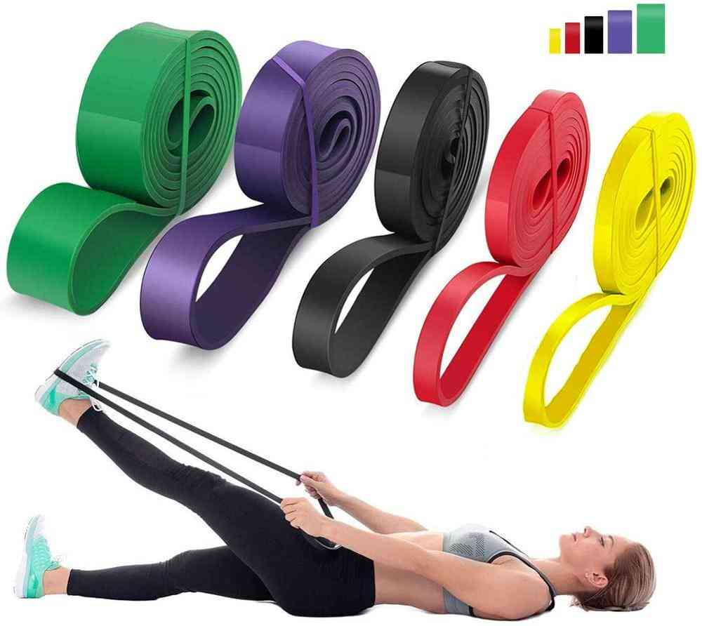 Resistance Latex Rubber Elastic Bands - Natural Expander Strengthen Training Power Fitness Pull Up Exercise
