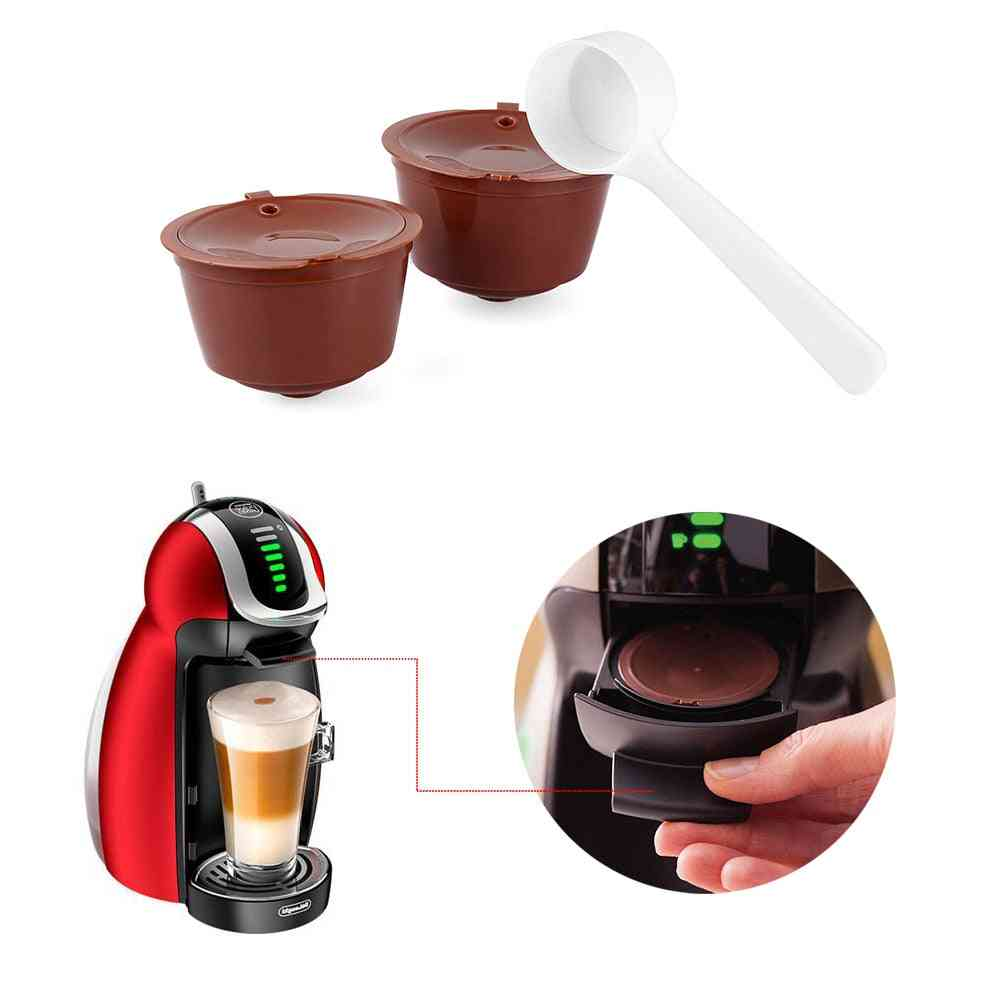 Cafe Reusable Refillable Filters Coffee Capsule For All Nescafe Dolce Gusto Models