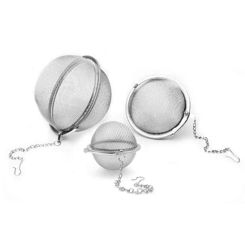 Stainless Steel Tea Infuser Sphere, Locking Spice Tea Ball Strainer  Kitchen Tools