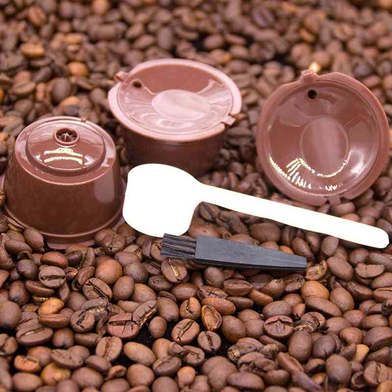 Reusable, Refillable Coffee Capsule Filter Cup For Nescafe 6pcs