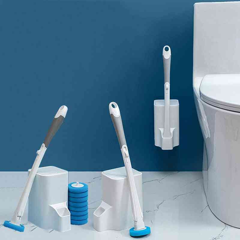 Bathroom Disposable Toilet Cleaning Brush - Dead Corner Wash Brush , Disposable Cleaning Artifact Set