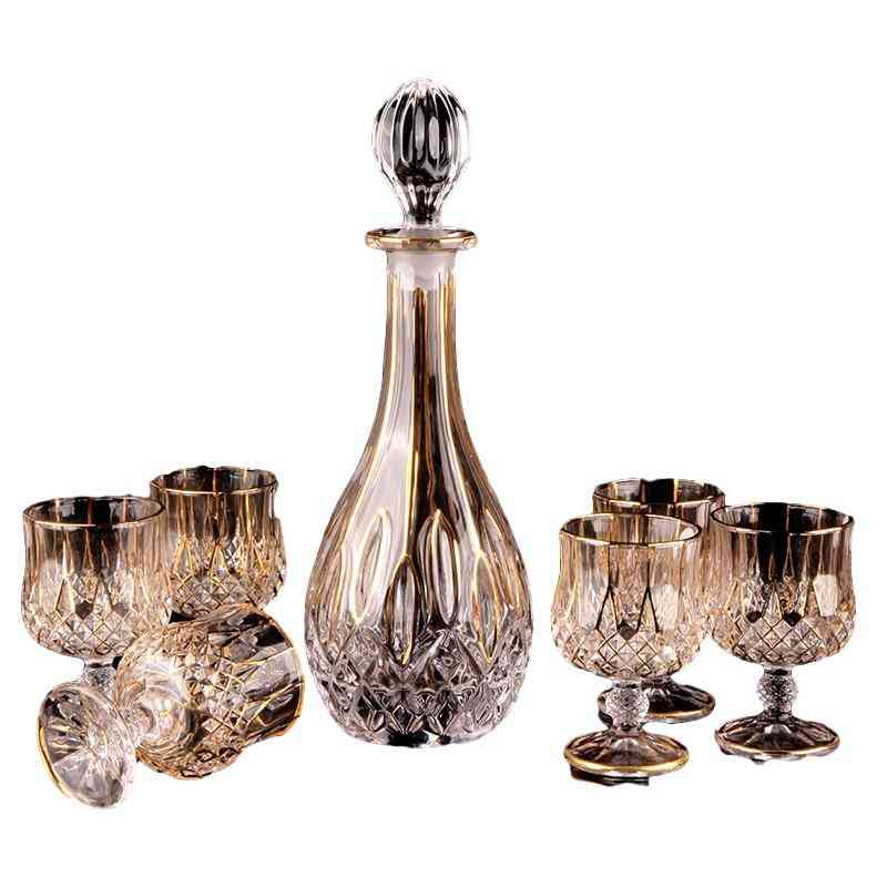 Crystal Red Wine, Whiskey Brandy Glass And Cup - Bottle Decanter Creative Barwarer
