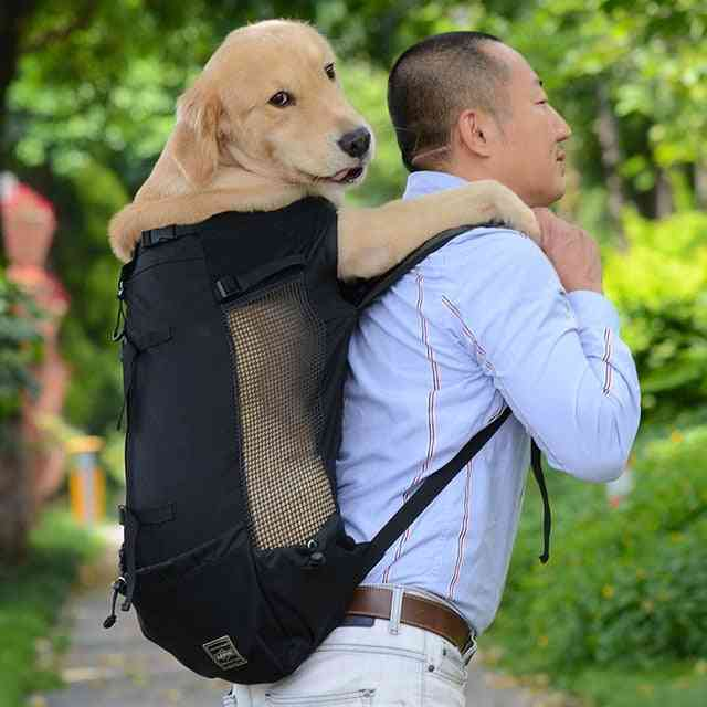 Adjustable Reflective Carrier Bag For Dogs - Outdoor Travel Backpack For Hiking Cycling