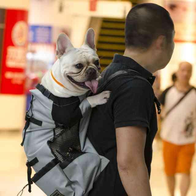 Breathable Pet Dog Carrier Bag For Large Dogs - Golden Retriever Bulldog Adjustable Backpack