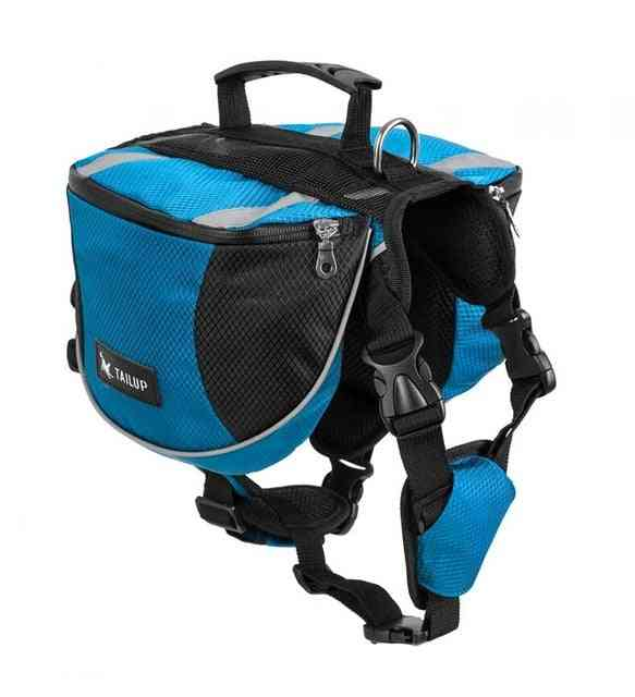Saddle Bags For Dog - Travel Camping Hiking Backpack, Bag For Small Medium Large Dogs
