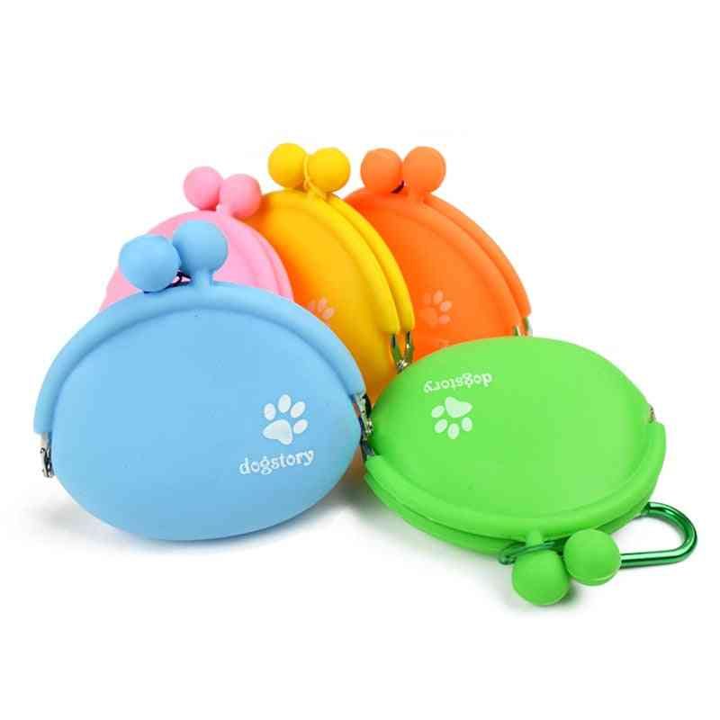 Pet Dog Walking Food Treat Snacks Bag - Outdoor Silicone Dog Training Food Storage Pockets Pouch